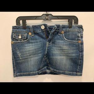 Vigoss Jeans Mini Jean Skirt distressed